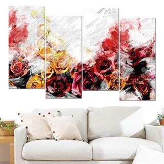 Design Art 'Mixed Roses' Canvas Art Print