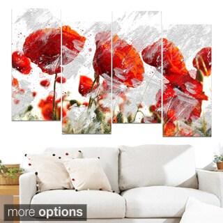 Design Art 'Orange Red Flower Buds' Canvas Art Print