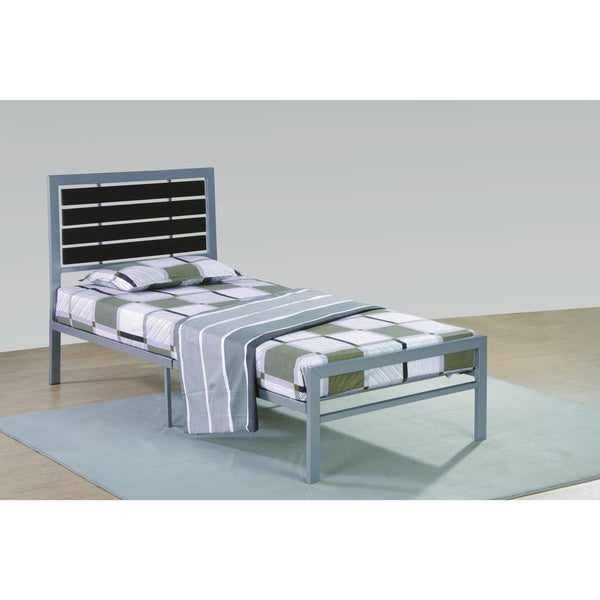 Metal Frame Grey/Black Bed