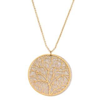 Isla Simone Tree-of-Life Circle Pendant Necklace