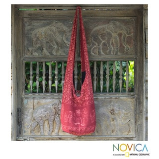 Cotton Shoulder Bag 'Red Siam' (Thailand)