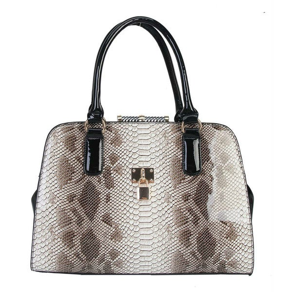 Rimen & Co. Snake Print Structured Tote Handbag