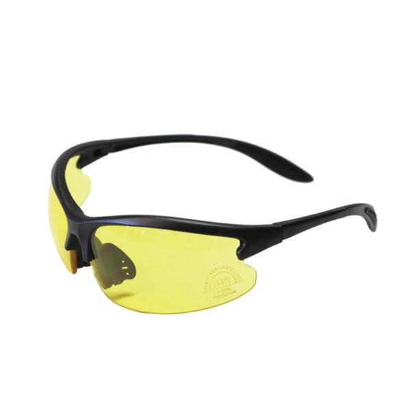 GXG Yellow Polycarbonate Shooting Sports Glasses Sunglasses wraparound 99.9% UV protection