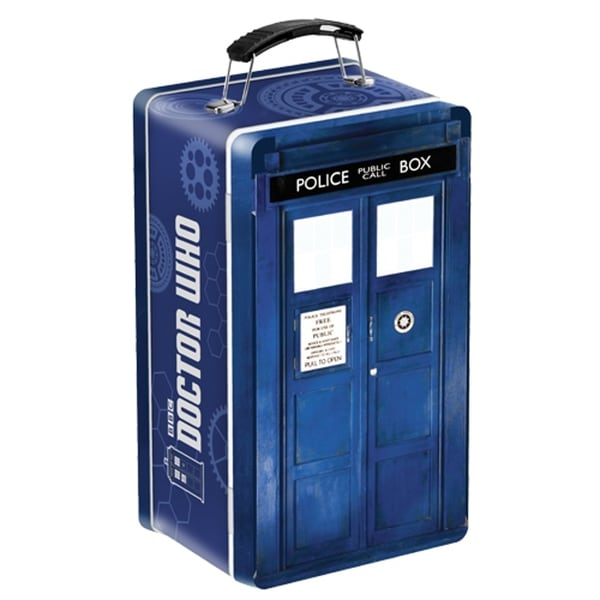 Doctor Who Tardis Tin Tote Retro Lunch Box