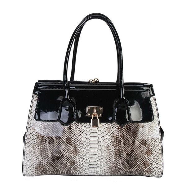 Rimen & Co. Snake Print Structured Tote Handbag