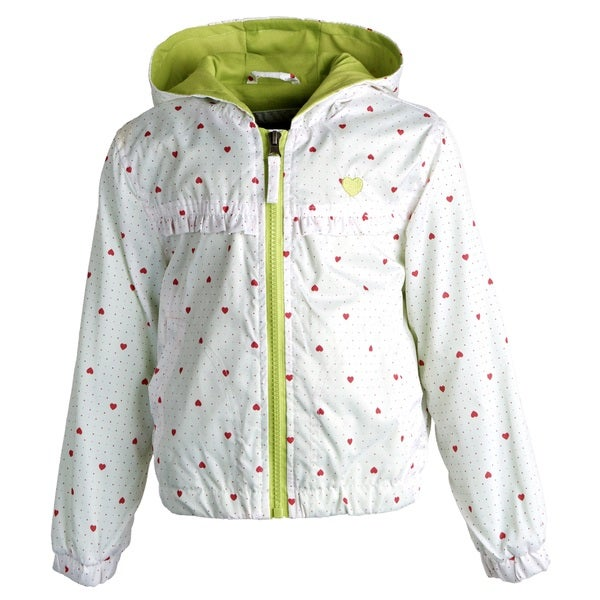 Pink Platinum Little Girls' Lightweight Heart Jacket with Soft Knit Lining