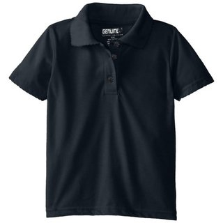 Girls' Short Sleeve Jersey Polo with Picot Collar