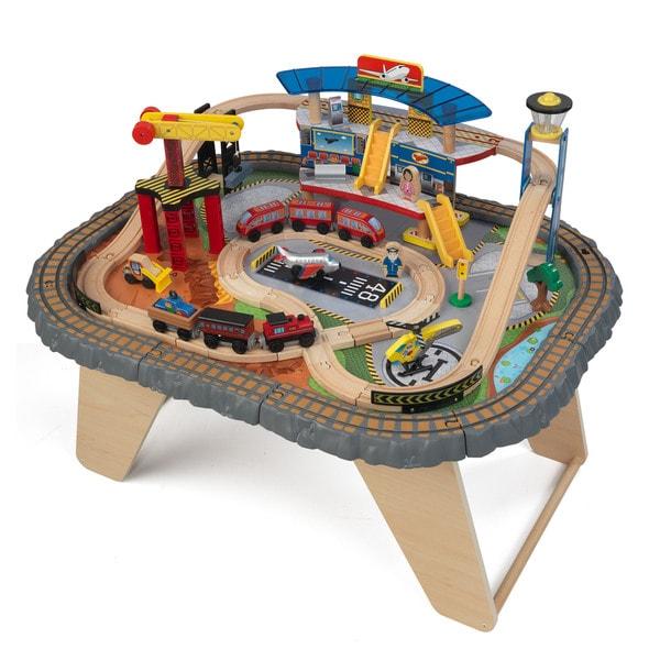 KidKraft Transportation Station Train Set and Table