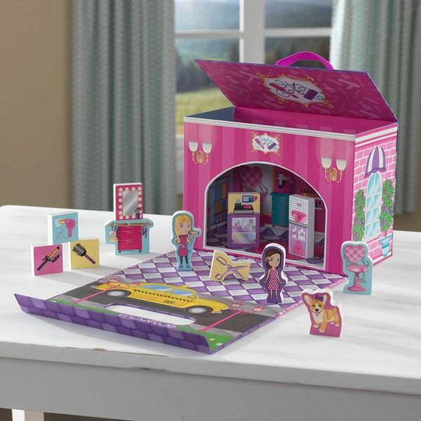 KidKraft Beauty Salon Travel Box Play Set
