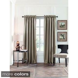 Perry Ellis Faux Silk Blackout Curtain Panel Pair