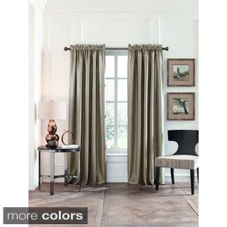 Perry Ellis Faux Silk Blackout Curtain Panel Pair
