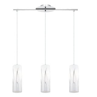 Eglo Rivato - 3 x 100 Mulit Light Pendant w/Chrome Finish & White & Chrome Decor