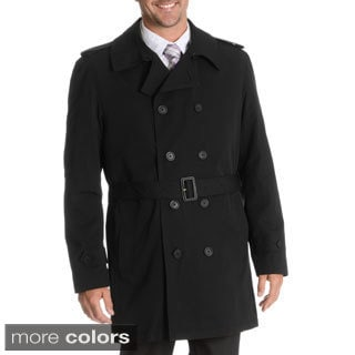 Blu Martini Men's Double Breasted Rain Coat