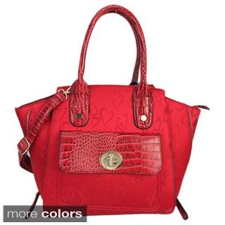 Rimen & Co. Dual Hearts Satchel Handbag