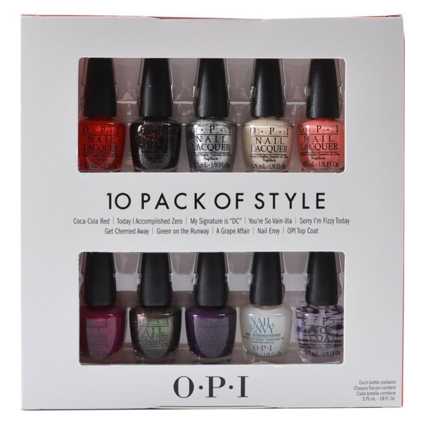 The Perfect Ten OPI Coca Cola 100th Anniversary 2015