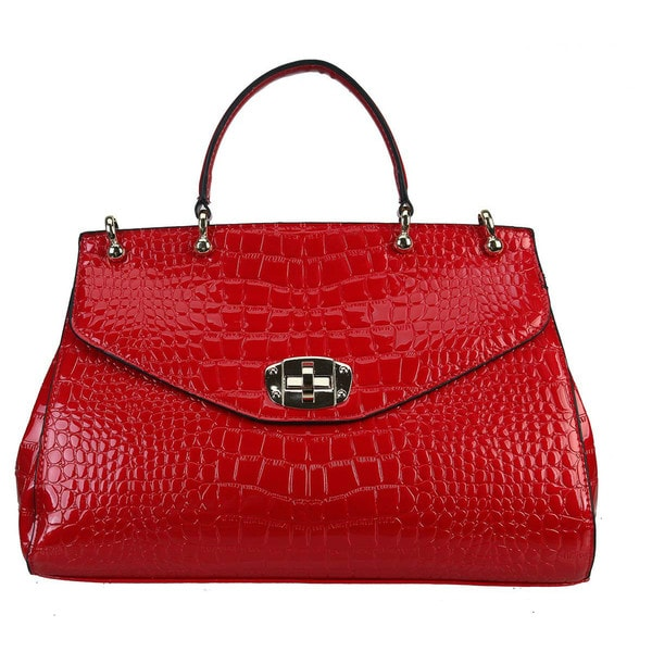 Rimen & Co. Crocodile Embossed Structured Tote Handbag