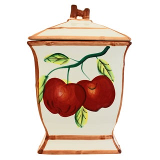 Apple Collection Hand-painted Cookie Jar