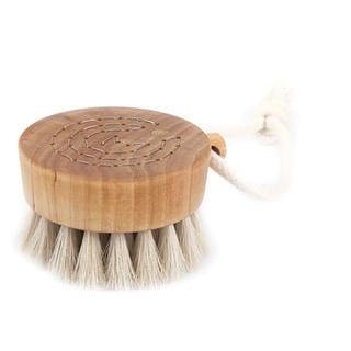 Iris Hantverk Birch Wood and Horse Hair Handmade Bath Brush Puck