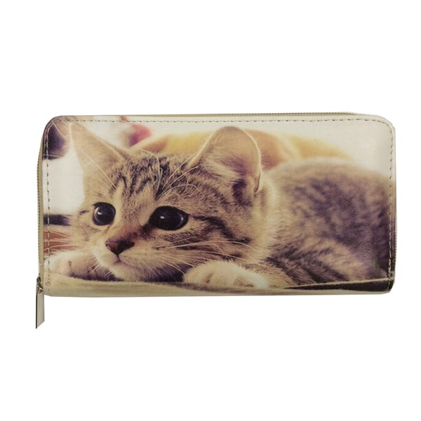 Bored Kitten Zip-around Wallet