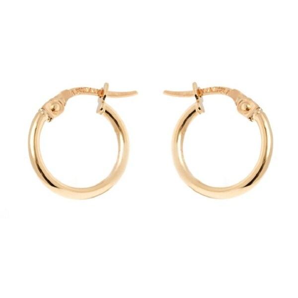 14k Yellow Gold 1.5x13mm Circle Hoop Earrings