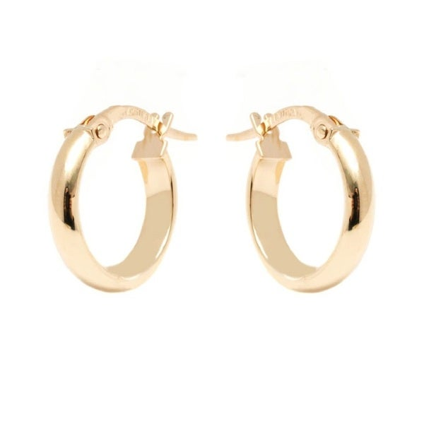 14k Yellow Gold 3x14mm Circle Hoop Earrings