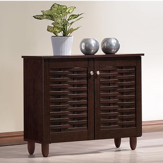 Rhodes Dark Brown Shoe Cabinet With 2 Doors