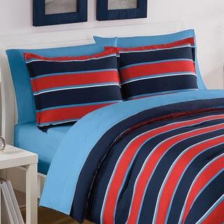 Izod Bowtie Stripe 3-piece Comforter Set