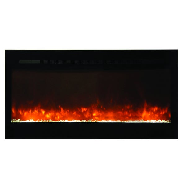 Yosemite 50 inch Built-in Electric Fireplace with Sleek Glass Face