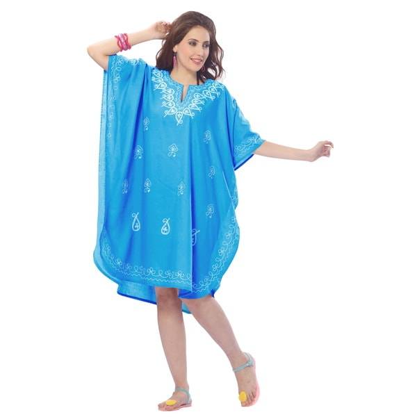 La Leela Women's Beach Blue Cover-up