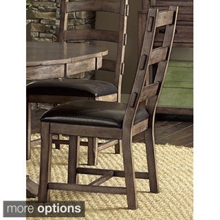 Rustic Oak Counter Height Chairs Set Of 2 11984771