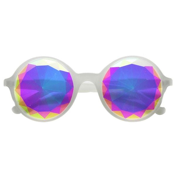 Adult White Kaleidoscope Sunglasses Costume Accessory
