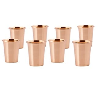 Solid Copper 2-ounce Flared Shot mugs (Set of 8)