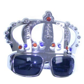 Adult Silver Crown Shaped Sunglasses