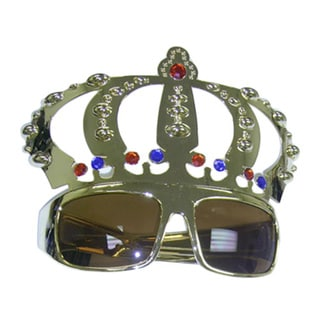 Adult Gold Crown Shaped Sunglasses