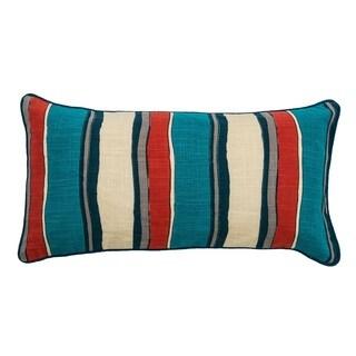 Rizzy Home Laura Fair Yellow Stripe 11-inch x 21-inch Decorative Throw Pillow