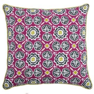 Rizzy Home Laura Fair Pink Geometric 20-inch Decorative Throw Pillow