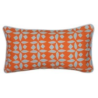 Rizzy Home Laura Fair Orange Geometric 11-inch x 21-inch Decorative Throw Pillow
