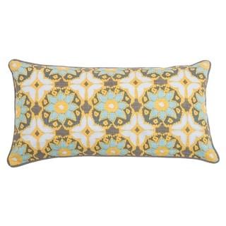 Rizzy Home Laura Fair Yellow Geometric 11-inch x 21-inch Decorative Throw Pillow