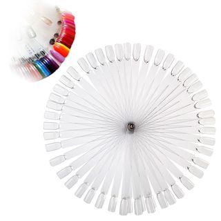 Zodaca 50-piece Set False Nail Art Tips Display Stick/ Practice Tool