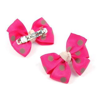 Insten Pink Polka Dots Bows for Pet