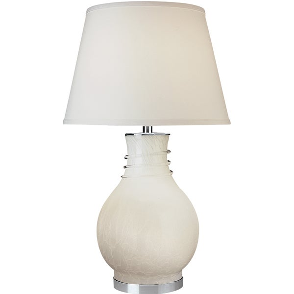 Fusion White Alabaster Glass Lamp