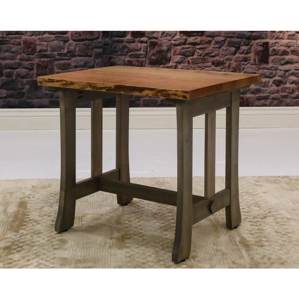 Somette Cherry Live Edge End Table