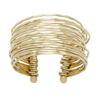 Goldtone Goldplated Cuff Bracelet (India)