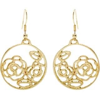 Goldtone Rose Earrings (India)