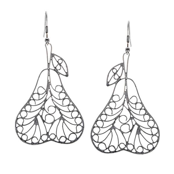 Black Pear Earrings (India)