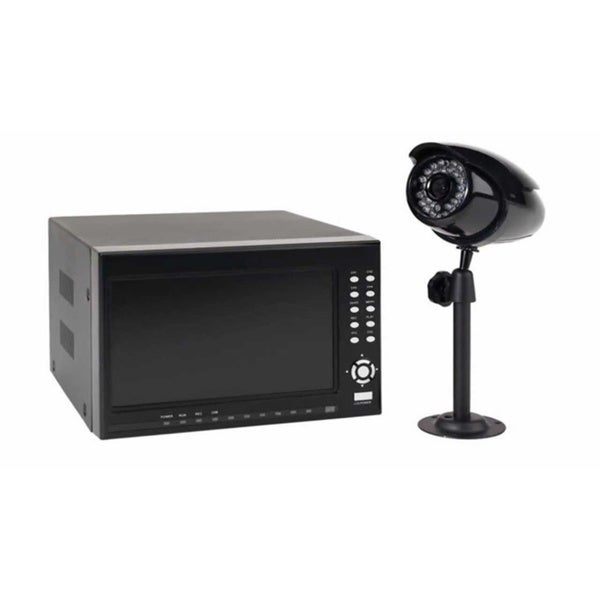First Alert 4-channel DVR Security System with 7-inch Monitor and 4 Wired Cameras