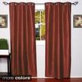 Faux Silk Blackout Grommet 84-Inch Curtain Panel Pair