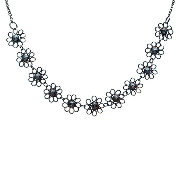 Black Small Flower Necklace (India)
