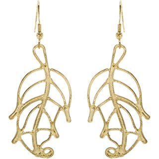 Goldtone Multiple Leaves Earrings (India)
