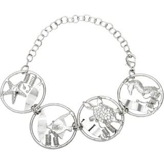 Silvertone Sea Life Bracelet (India)